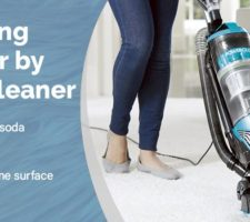 Cleaning the floor by a vacuum cleaner