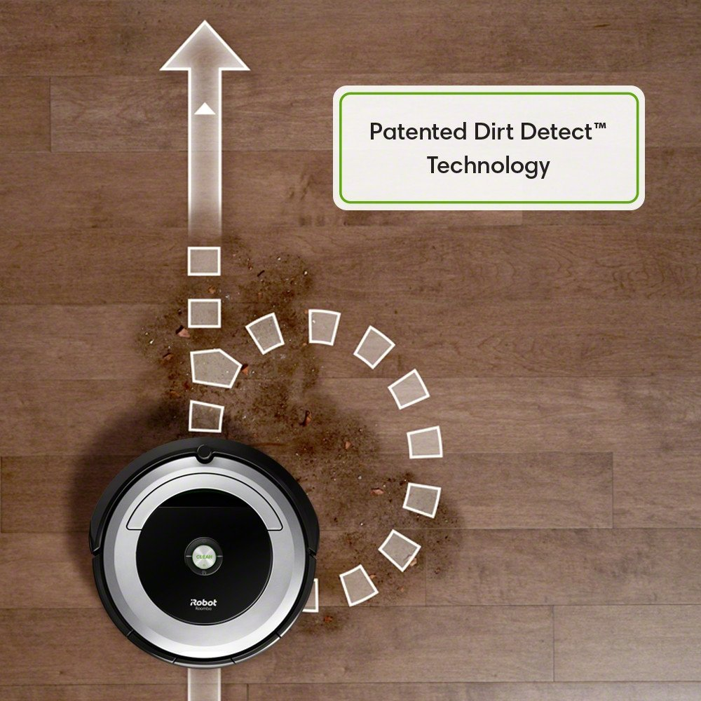 Roomba 690 Patented dirt detect sensors