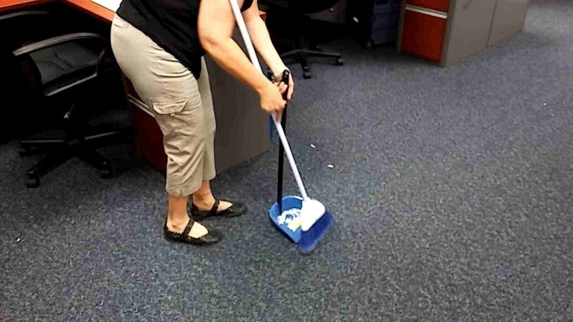 Dampen and gently sweep the carpet before using a vacuum on it