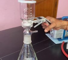Clamp A Filter Flask before Suction Filtration